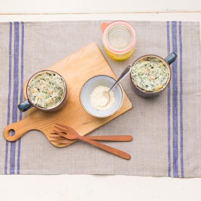 「米粉生地の蒸しパン」の写真素材