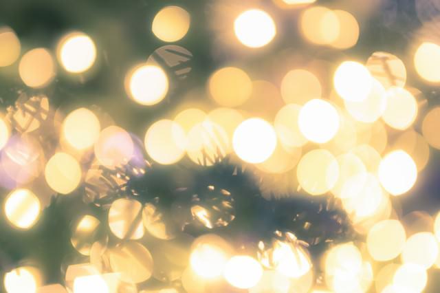 クリスマスツリーとイルミネーションの写真