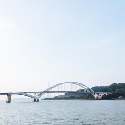 「伊万里大橋(アーチ橋)」の写真素材
