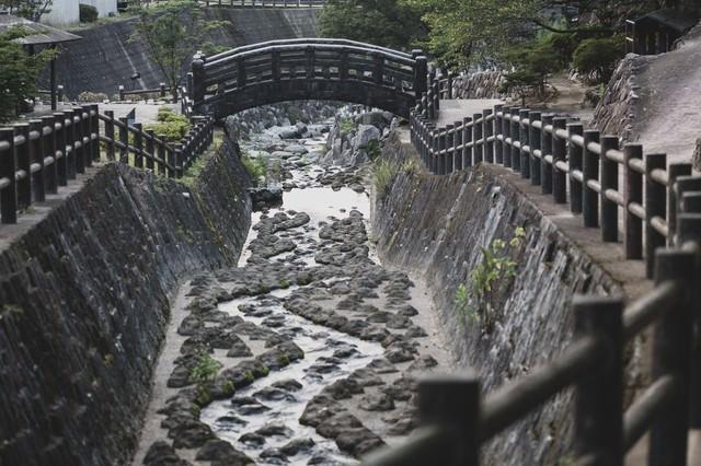大川内山の伊万里川の写真