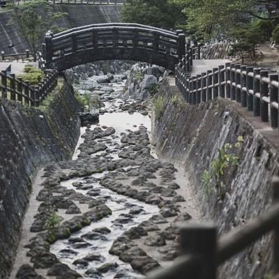 「大川内山の伊万里川」の写真素材
