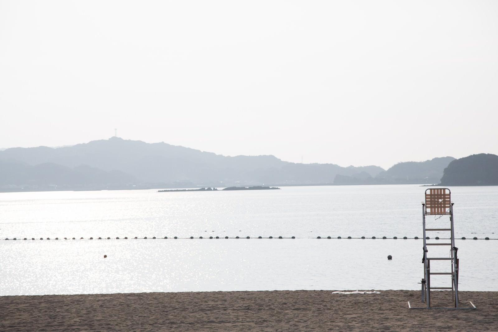「遊泳区域とイマリンビーチ」の写真