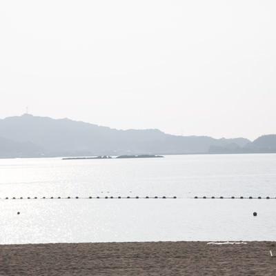 「遊泳区域とイマリンビーチ」の写真素材