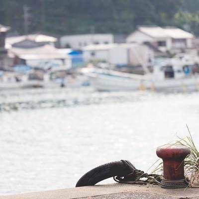 「佐賀県伊万里市波多津港」の写真素材