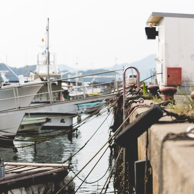 「伊万里市にある波多津港の様子」の写真素材