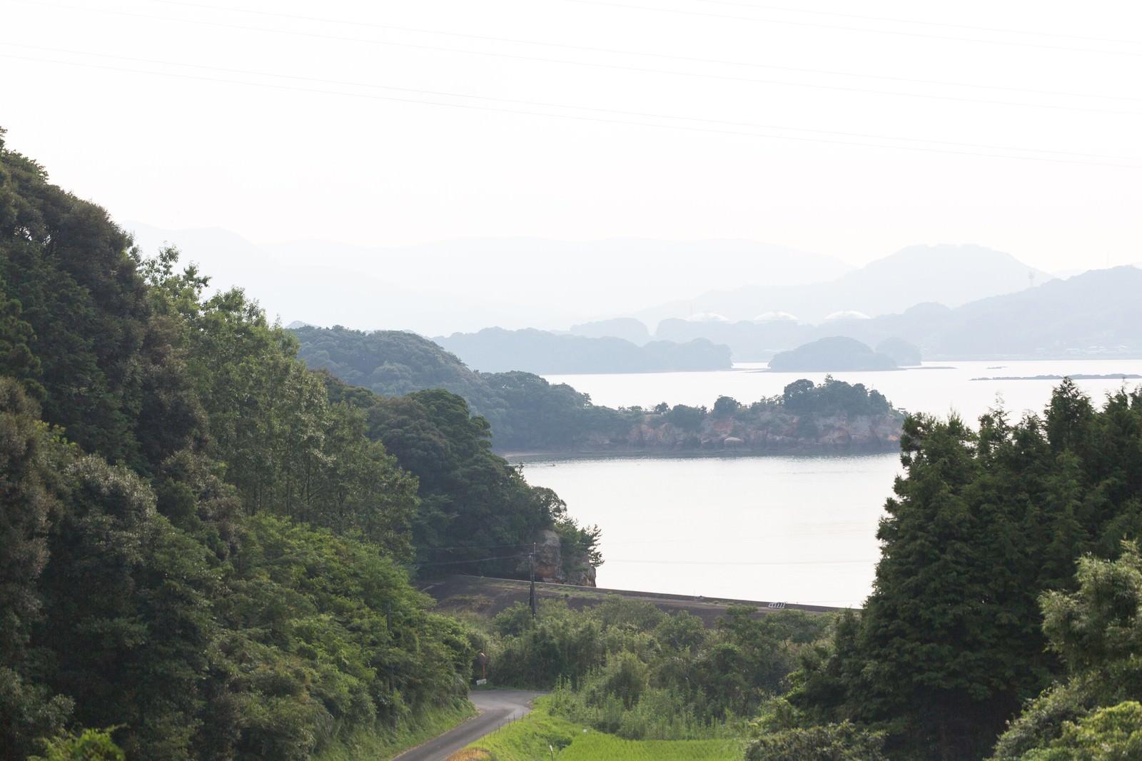 「山から見える伊万里湾の眺め」の写真