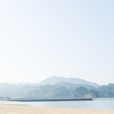 「静かな人工海浜公園「イマリンビーチ」」の写真素材