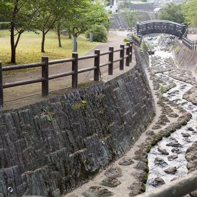 「佐賀県伊万里市の大川内山の側を流れる伊万里川」の写真素材