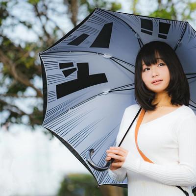 「雨の中、彼女と待ち合わせドン!!」の写真素材