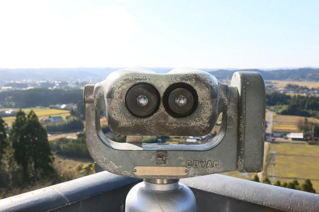 観光地でよく見かける双眼鏡(無料)の写真