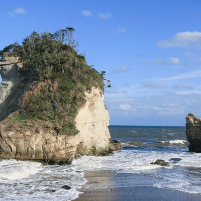 「津々ヶ浦の夫婦岩」の写真素材