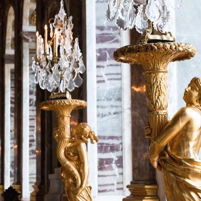 「ヴェルサイユ宮殿の照明」の写真素材