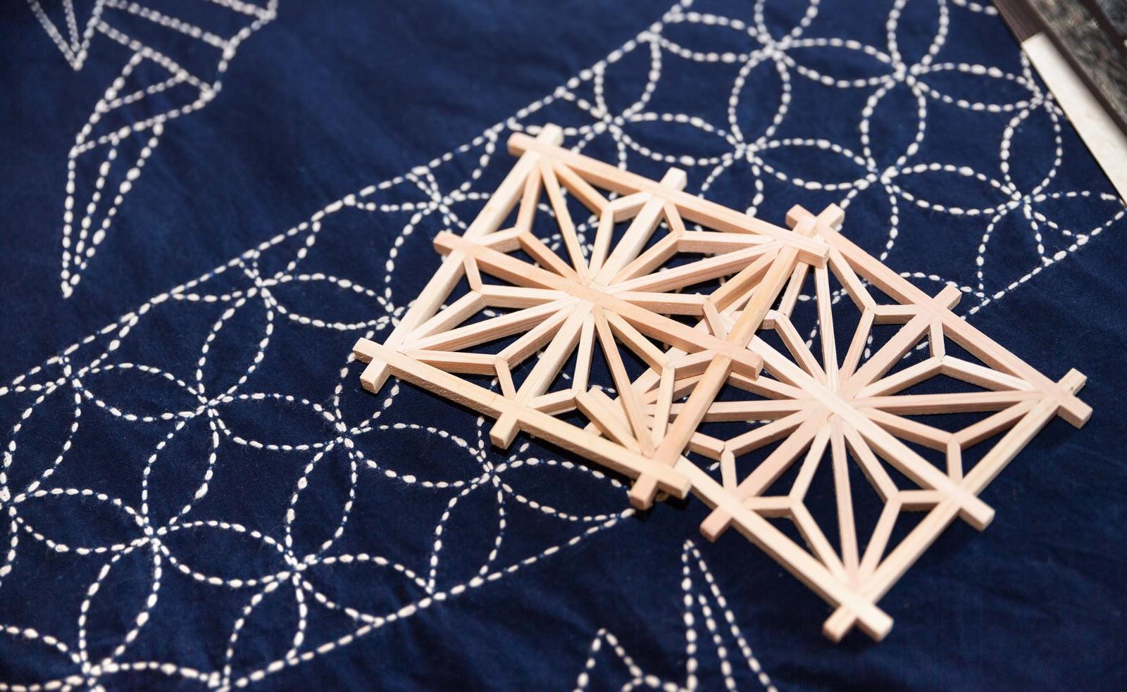 「千葉県指定伝統工芸の建具組子」の写真