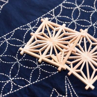 「千葉県指定伝統工芸の建具組子」の写真素材