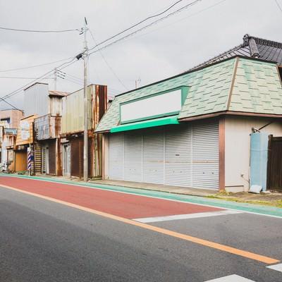 「休日の商店街」の写真素材