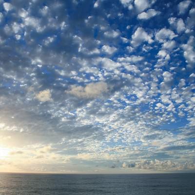 「羊雲」の写真素材