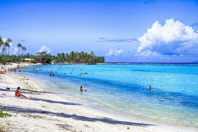 タヒチの海水浴の写真