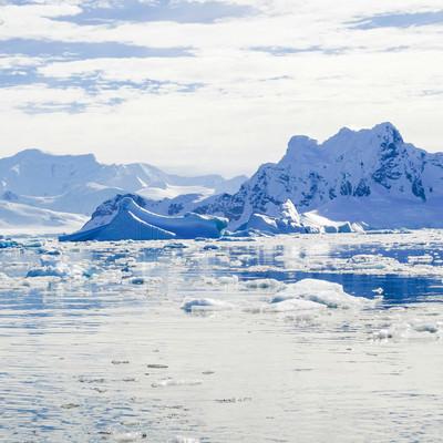 無数に浮かぶ流氷(南極大陸)の写真