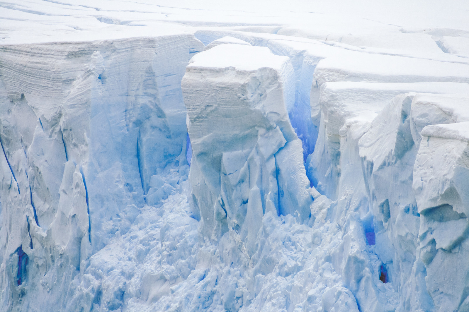 「崩落前の氷河」の写真