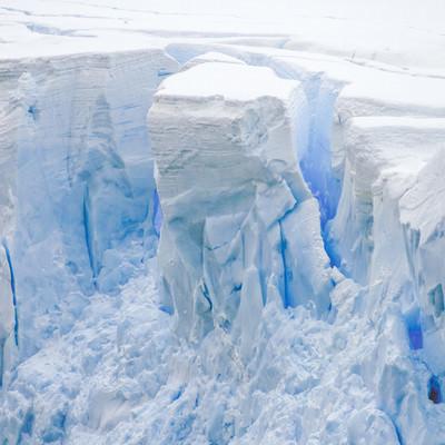 崩落前の氷河の写真