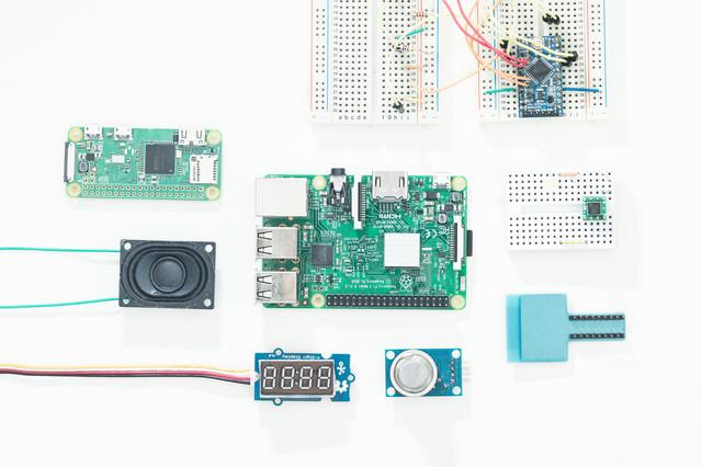 IoT開発電子部品(Raspberry Pi)の写真