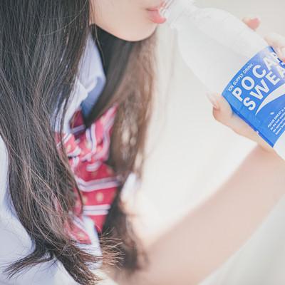 熱中症対策のための水分補給の写真