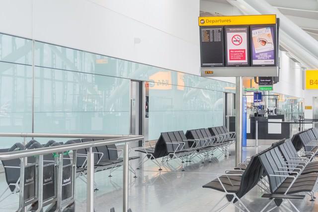 ヒースロー航空の待合所の写真