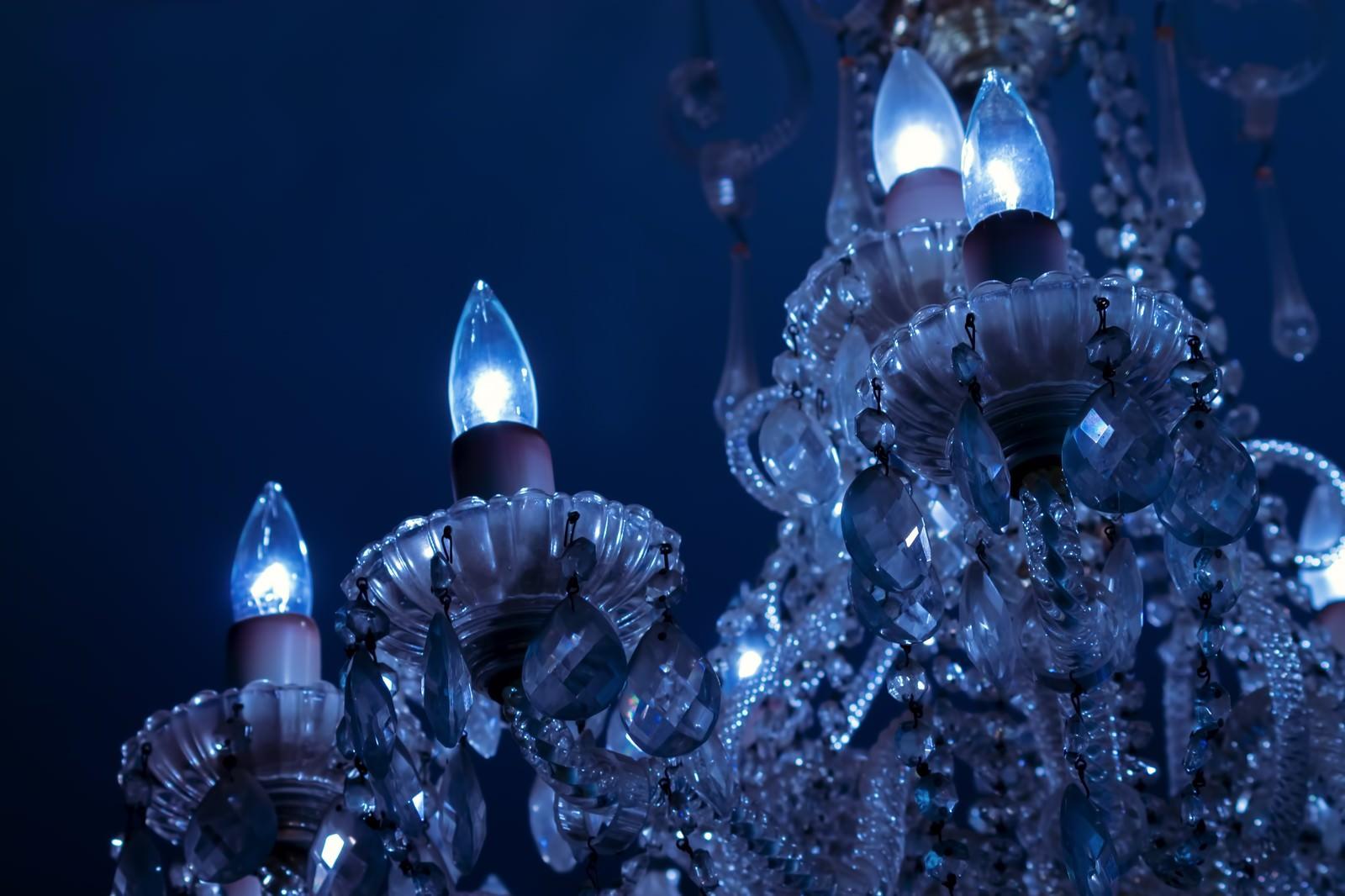 「クリスタルのシャンデリア」の写真