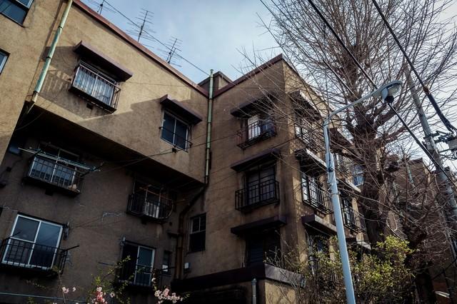 取り壊し前の上野下アパートの写真