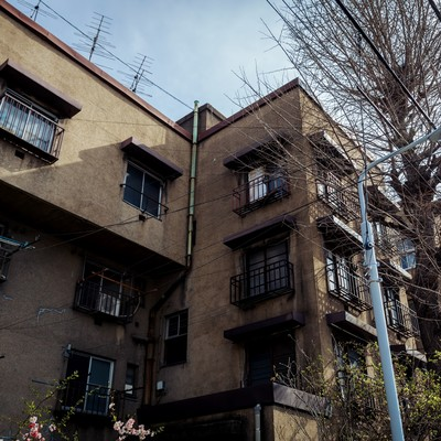 「取り壊し前の上野下アパート」の写真素材