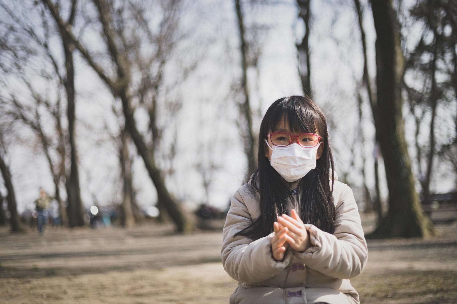 「花粉の季節はマスクと眼鏡は必需品」の写真