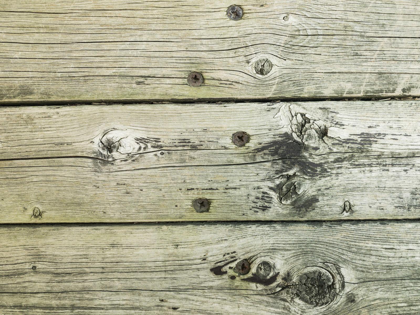 「錆びた釘で固定された天板(テクスチャ)」の写真