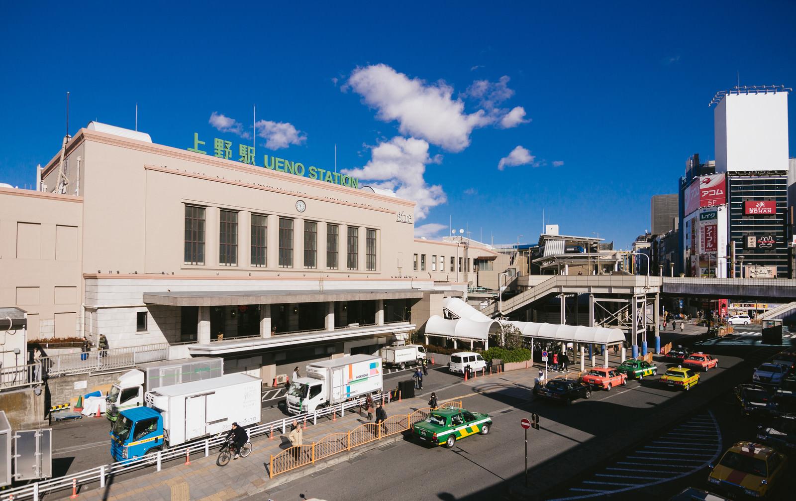 「上野駅前(中央出口)の様子上野駅前(中央出口)の様子」のフリー写真素材を拡大
