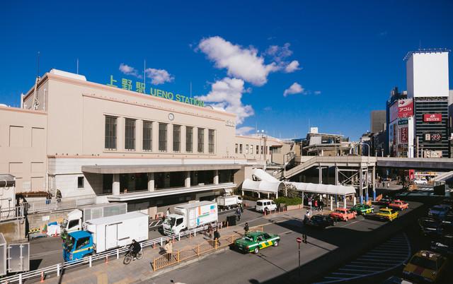 上野駅前(中央出口)の様子の写真