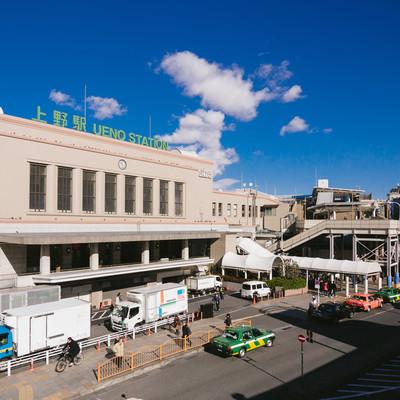 「上野駅前(中央出口)の様子」の写真素材