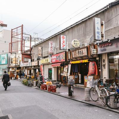 「西日暮里駅前の飲食店」の写真素材