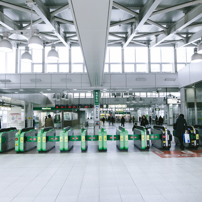 「JR大崎駅前改札」の写真素材
