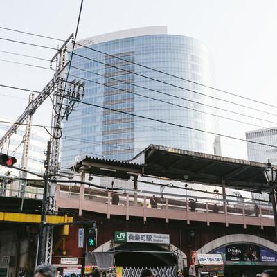 「有楽町駅を出てすぐ」の写真素材