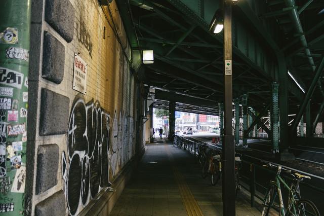 有楽町駅の不気味なガード下の写真