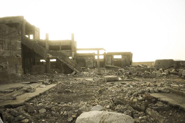 いつの日かの軍艦島の写真