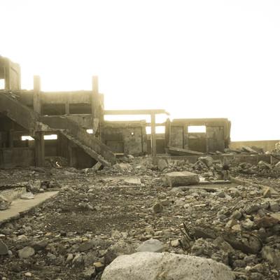 「いつの日かの軍艦島」の写真素材