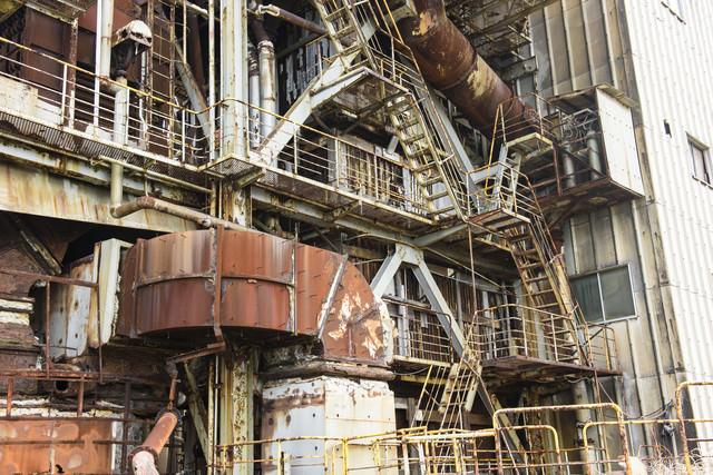 使われていない工場廃墟の写真