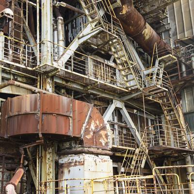 「使われていない工場廃墟」の写真素材