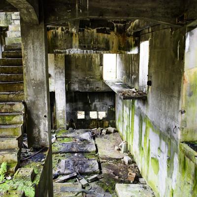 「炭鉱施設の廃墟」の写真素材