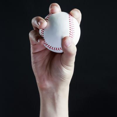 チェンジアップの握り方の写真