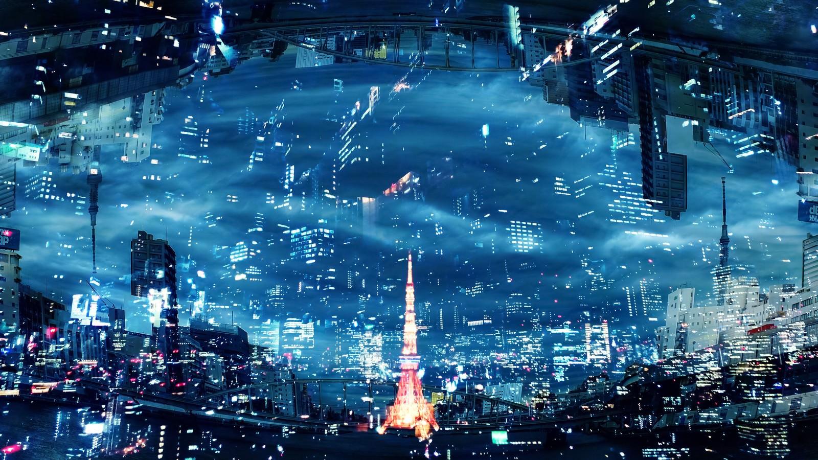 「東京タワーの灯(フォトモンタージュ)」の写真