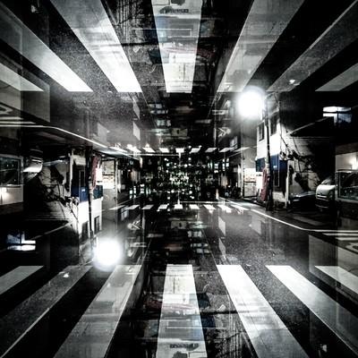 「囚われた街(フォトモンタージュ)」の写真素材