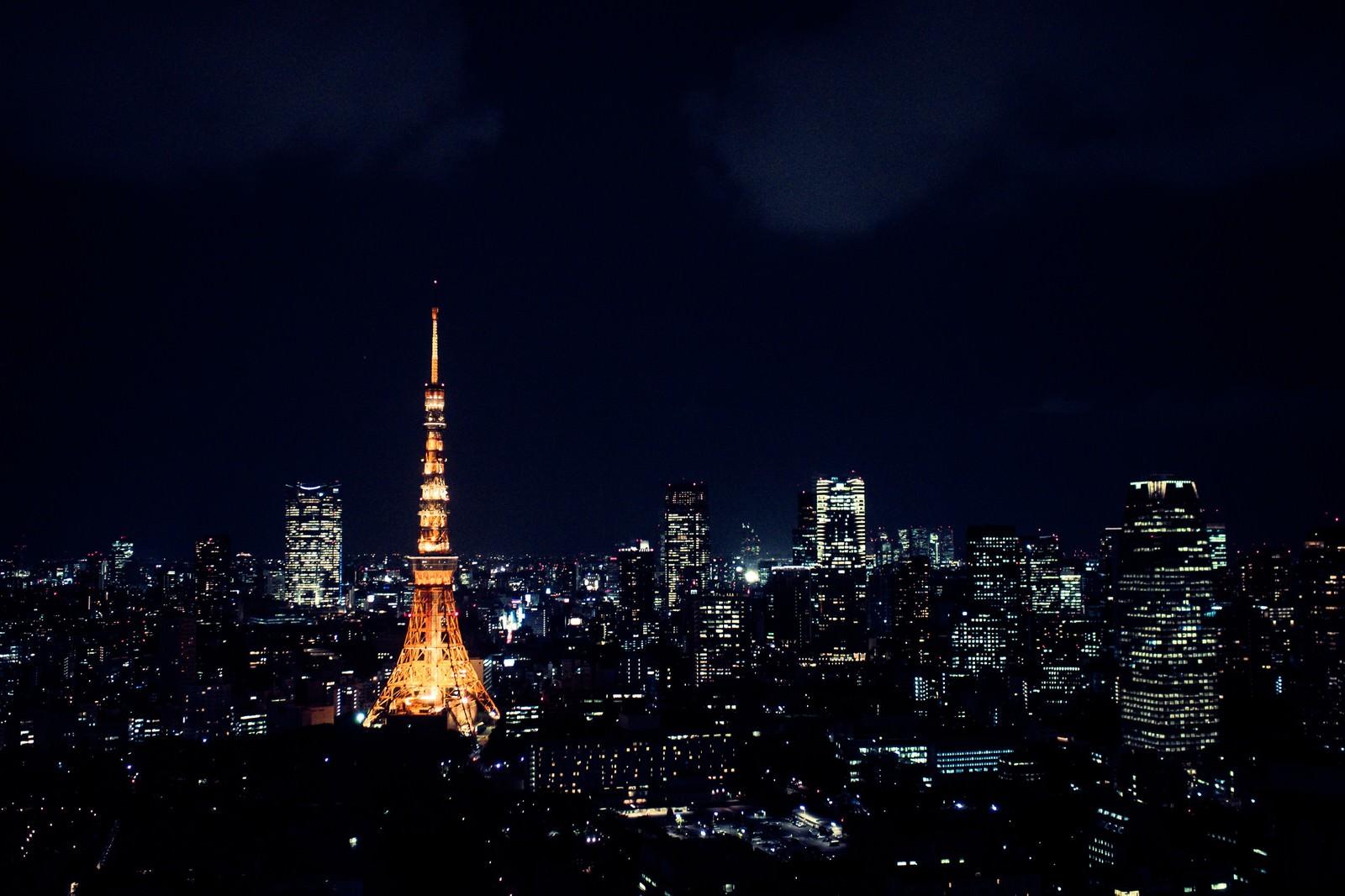 「夜の東京(東京タワー)夜の東京(東京タワー)」のフリー写真素材を拡大