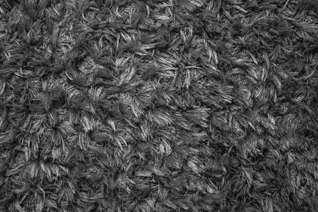モノクロの絨毯(テクスチャ)の写真