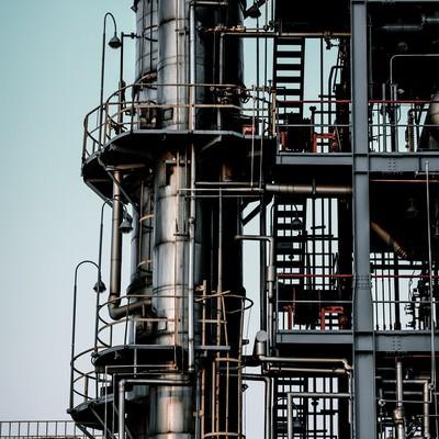 「工場-むき出しの階段」の写真素材